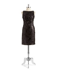 Isaac Mizrahi Sequined Black Dress
