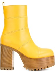 Marni Platform Boots Yellow And Orange