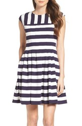 Vince Camuto Women's Stripe Fit And Flare Dress