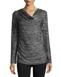 Marc New York Cowl Neck Performance Tunic Black