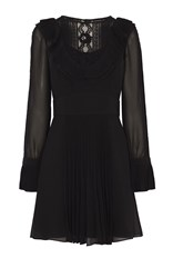 Karen Millen Lace And Ruffle Boho Dress Black