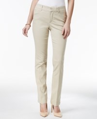 Charter Club Tummy Control Straight Leg Pants Only At Macy's Sand
