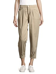 J Brand Four Pocket Cotton Cropped Pants Quicksand
