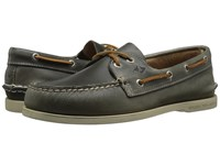 Sperry A O 2 Eye Waterloo Grey Men's Lace Up Moc Toe Shoes Gray