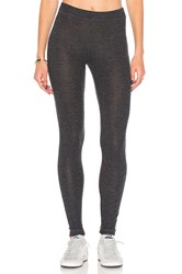Heather Brushed Hacci Legging Charcoal