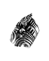 Dylanlex Tess Carved Silver Statement Ring
