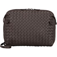 Bottega Veneta Women's Intrecciato Messenger Dark Brown