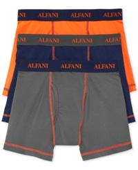 Alfani Men's Athletic Boxer Briefs 3 Pack Vibrant Orange