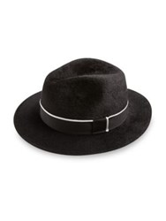 Barbisio Felt Ribbed Fedora Black