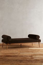 Anthropologie Velvet Darcy Daybed Chocolate