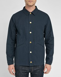 Gloverall Navy Coaches Cotton Jacket