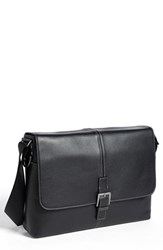 Boconi Men's 'Tyler' Leather Buckle Laptop Messenger Bag