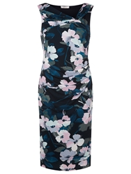 Kaliko Floral Wrap Jersey Dress Multi Green
