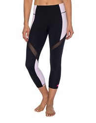 Betsey Johnson Colorblock Crop Legging Black Lilac