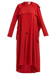 Awake Inside Out Trench Coat Dress Red