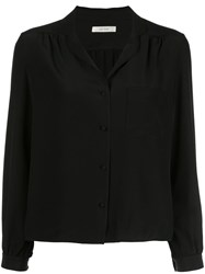 The Row Griffin Blouse Black