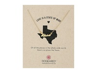 Dogeared Love Is A State Of Mind Script Necklace Gold Dipped 2 Necklace Neutral