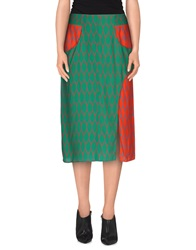 Kenzo Knee Length Skirts Green