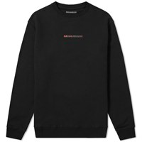 Mhi Maharishi Long Redacted Miltype Crew Sweat Black
