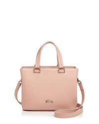 Longchamp Honore Small Leather Satchel Pinky Pink Silver