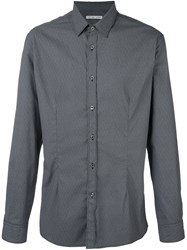 Daniele Alessandrini Jacquard Button Down Shirt Black