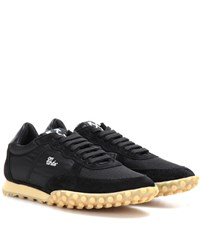 Off White Vintage Runner Suede And Fabric Sneakers Black