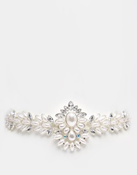 New Look Jewelled Statement Belt Silver