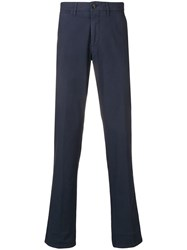 Corneliani Straight Leg Chinos Blue