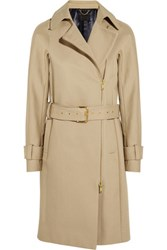 J.Crew Collection Bonded Cotton Gabardine Trench Coat Sand