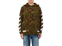 Off White Men's Seeing Things Camouflage Cotton Hoodie Green No Color