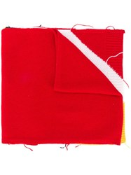 Iceberg Logo Knitted Scarf Red