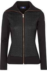 Fusalp Myrtille Quilted Shell And Stretch Jersey Jacket Black