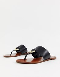 Aldo Ocericia Leather Ring Post Sandals In Black