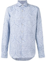 Xacus Printed Shirt Blue