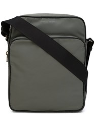 Tomas Maier Classic Messenger Bag Men Leather Nylon One Size Green
