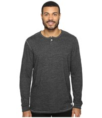 Tommy Bahama Sunday's Best Long Sleeve Henley Charcoal Heather Men's Long Sleeve Pullover Gray