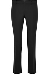 Gucci Wool And Silk Blend Flared Pants Black