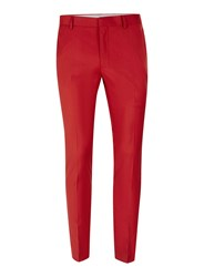 Topman Bright Red Ultra Skinny Fit Suit Trousers