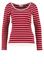 Zalando Essentials Long Sleeved Top Red White Dark Red