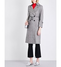 Moandco. Welsh Plaid Cotton Blend Trench Coat Wales Check