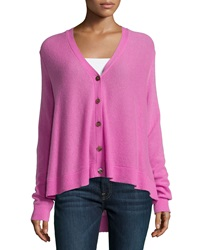Minnie Rose Cashmere Swing Cardigan Fuchsia
