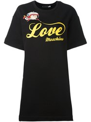 Love Moschino Logo T Shirt Dress Black