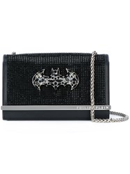 Philipp Plein Bejewelled Batman Shoulder Bag Black