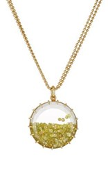 Renee Lewis Women's Shake Pendant Necklace Yellow
