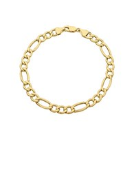 Lord And Taylor 14K Yellow Gold Figaro Chain Link Bracelet
