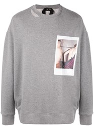 N 21 No21 Polaroid Picture Sweater Grey