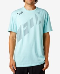 Fox Men's Seca Wrap Logo Print T Shirt Ice