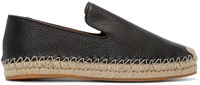 Valentino Black Leather Espadrilles