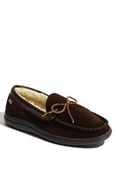 L.B. Evans Men's 'Atlin' Moccasin Chocolate Pile