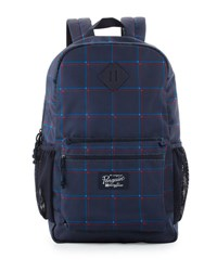 Original Penguin 3D Windowpane Backpack Bag Blue